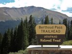 Berthoud Pass Sign