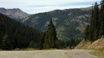 Narrow, Shoulderless road on Independence Pass